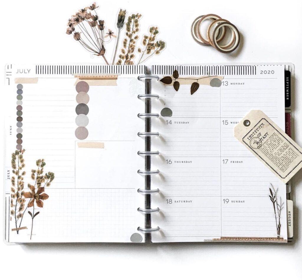 Kalu Plans Happy Planner Dashboard Layout
