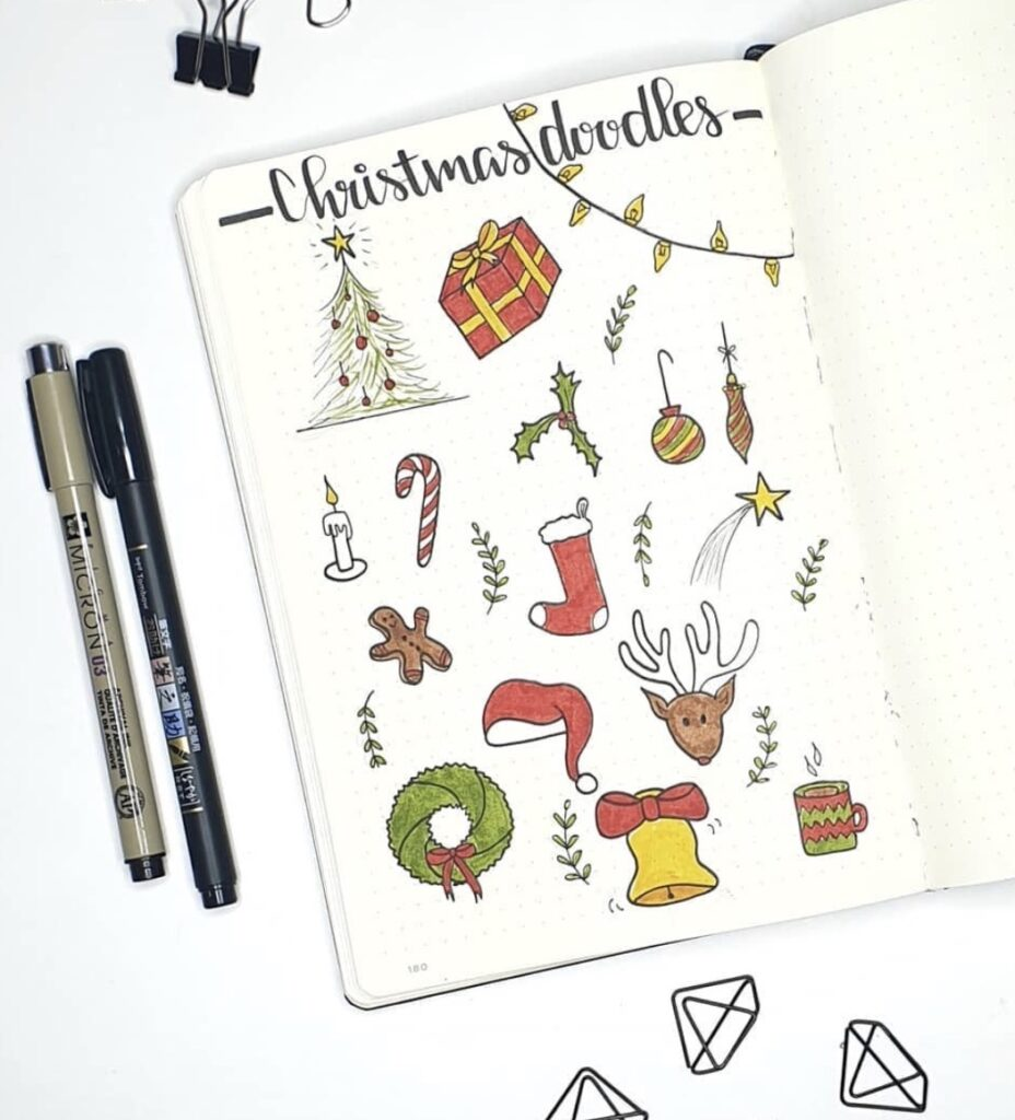 Lisan Plan Christmas Theme Doodles