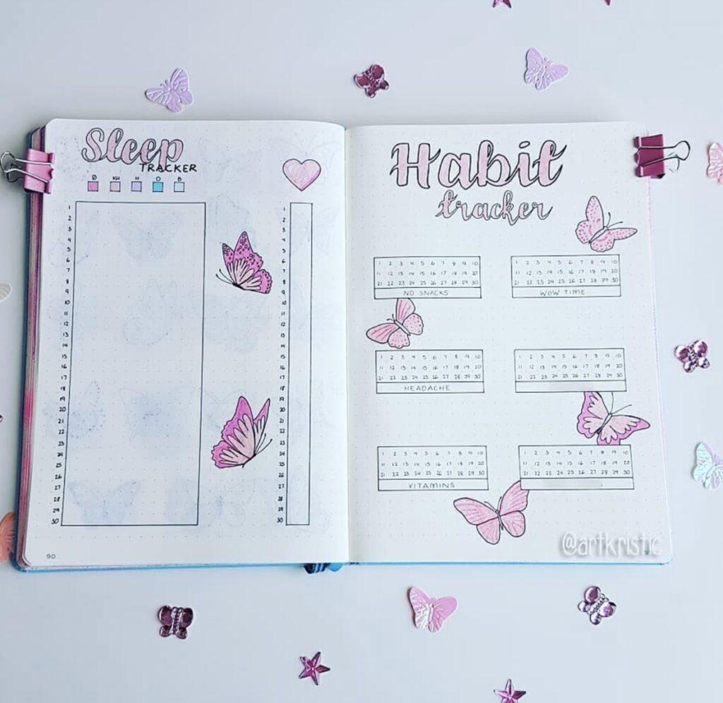 pink-butterfly-sleep-tracker-artkristic