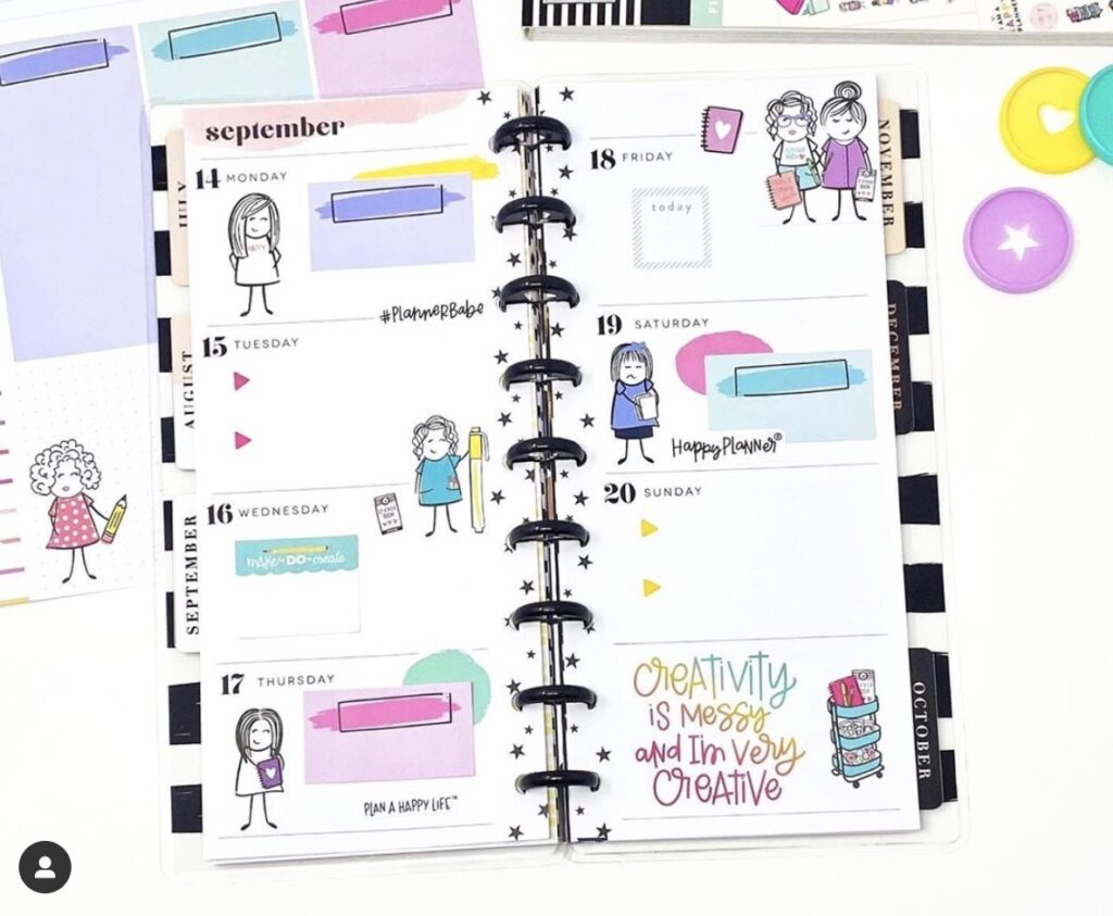 tall skinny planner layout