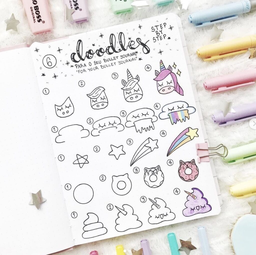 rainbow-mythical-doodles-lasirenailustra