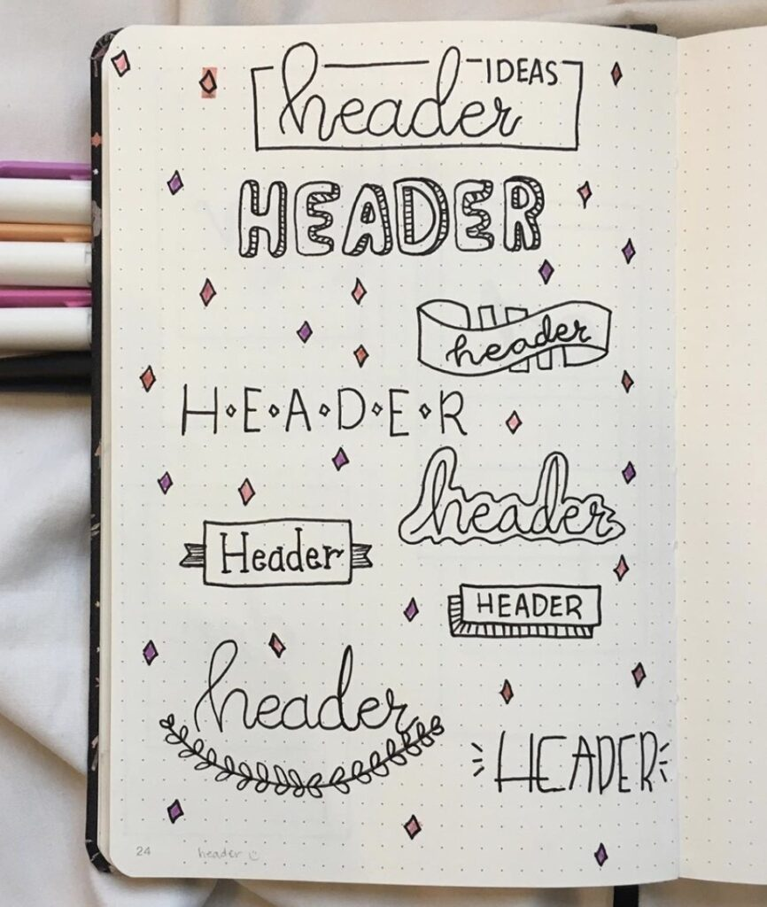 simple-bullet-journal-header-ideas-bullet-journal-wizard