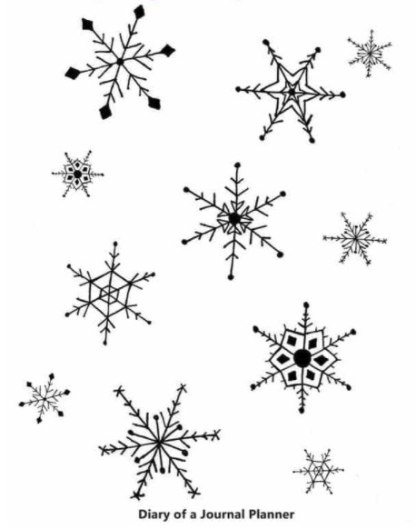 snowflake-doodles-diary-of-a-journal-planner