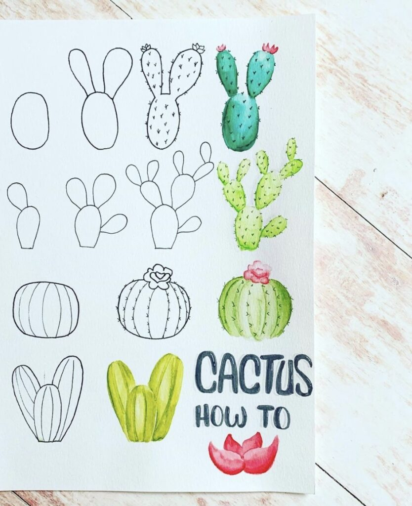 step-by-step-doodle-cactus-bulletjournalcraze