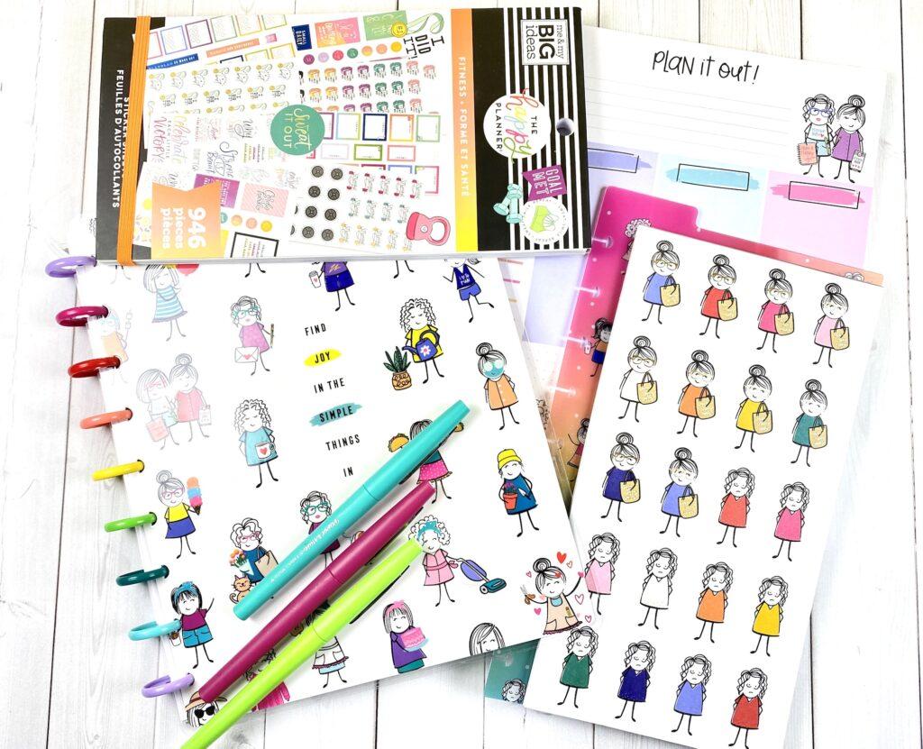 happy planner sticker accessories