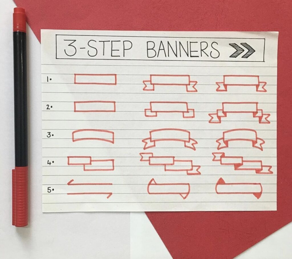 three-step-banners-unproductive-bujoist