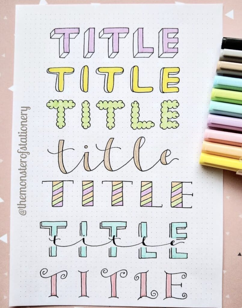 rainbow title-the-monster-of-stationery