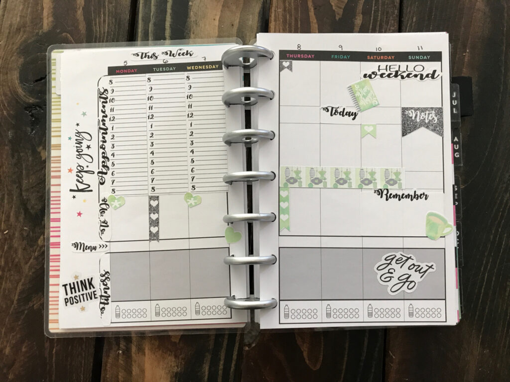 completely redesigned planner layout