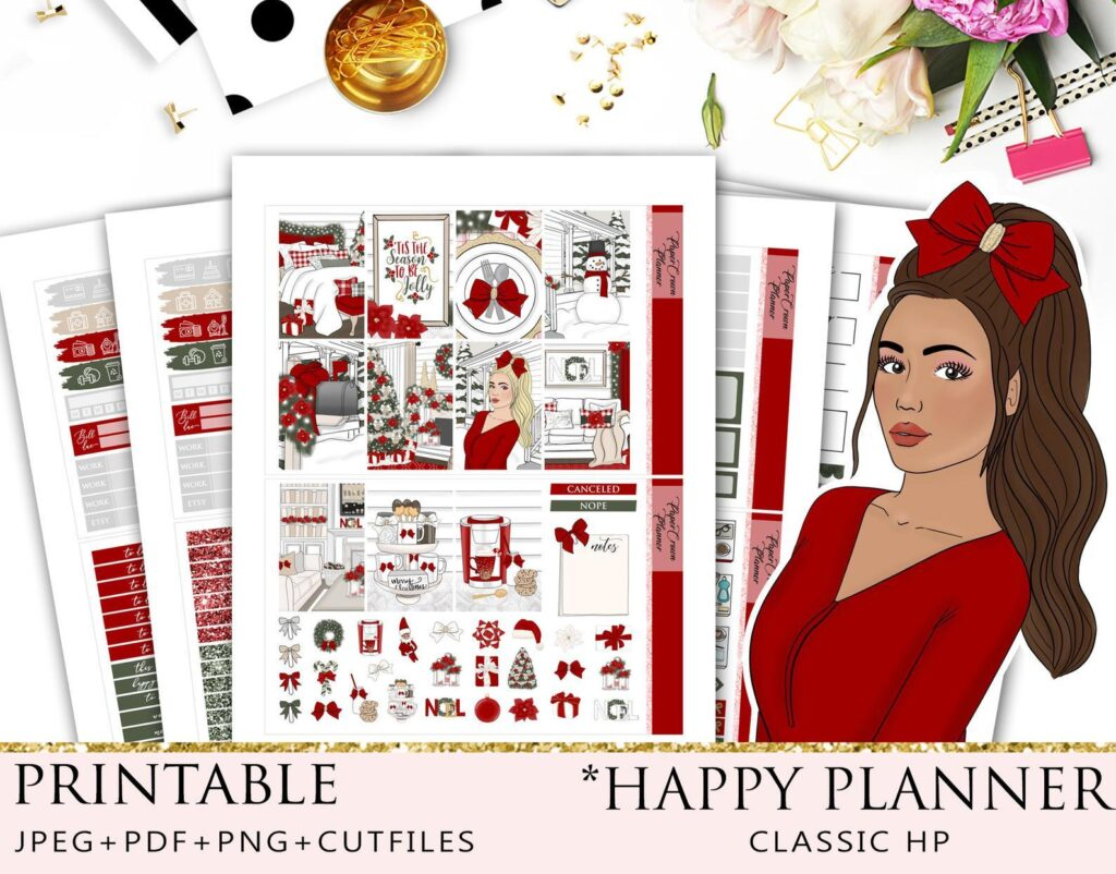 Jolly-Christmas-stickers-paper-crown-planner