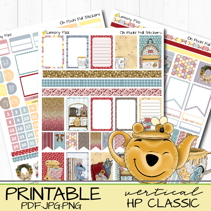 Oh Pooh Classic Christmas Planner Stickers