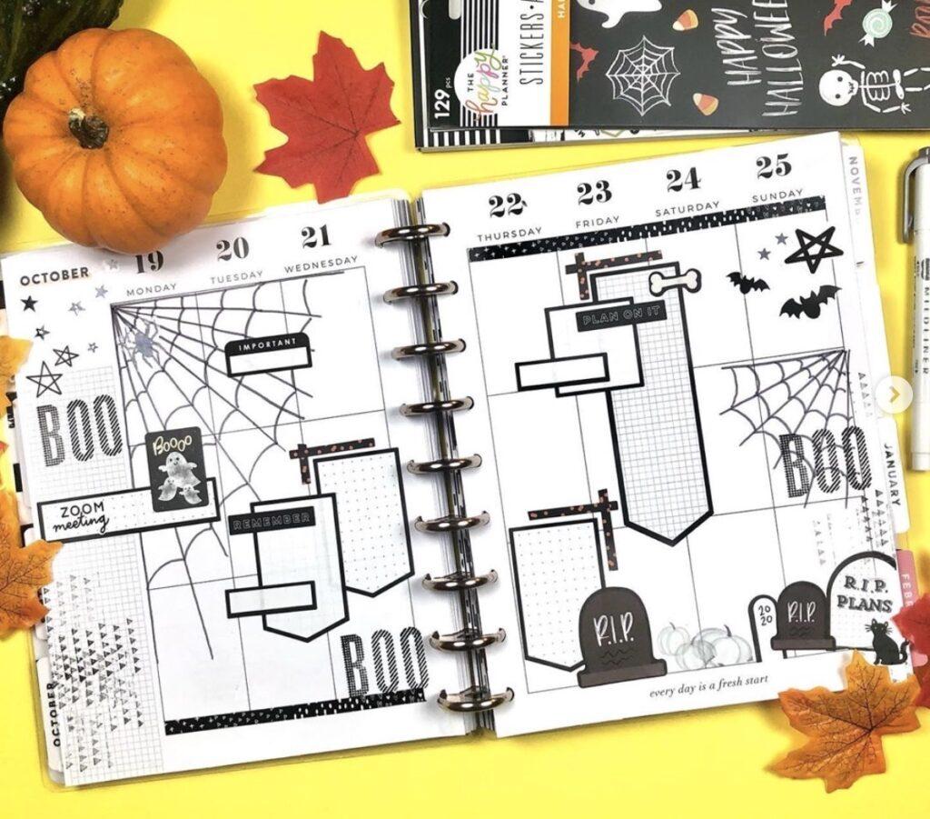 halloween-layout-black-and-white-twinkleplansherday