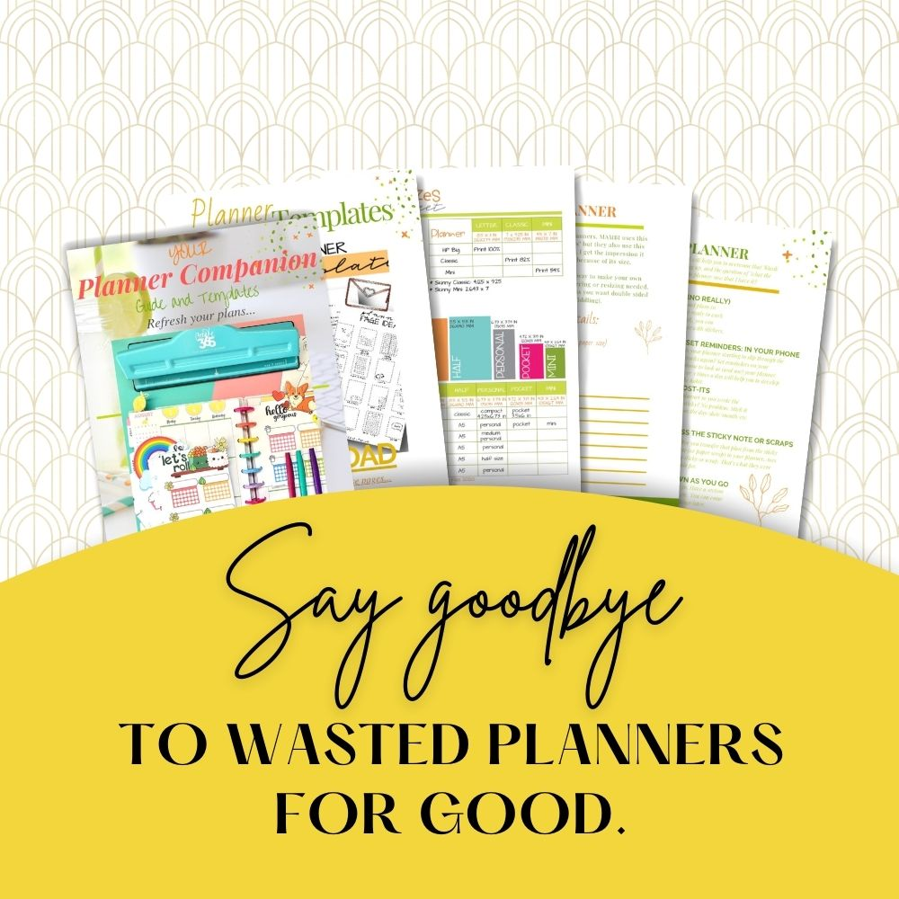 printable planner companion pages kit