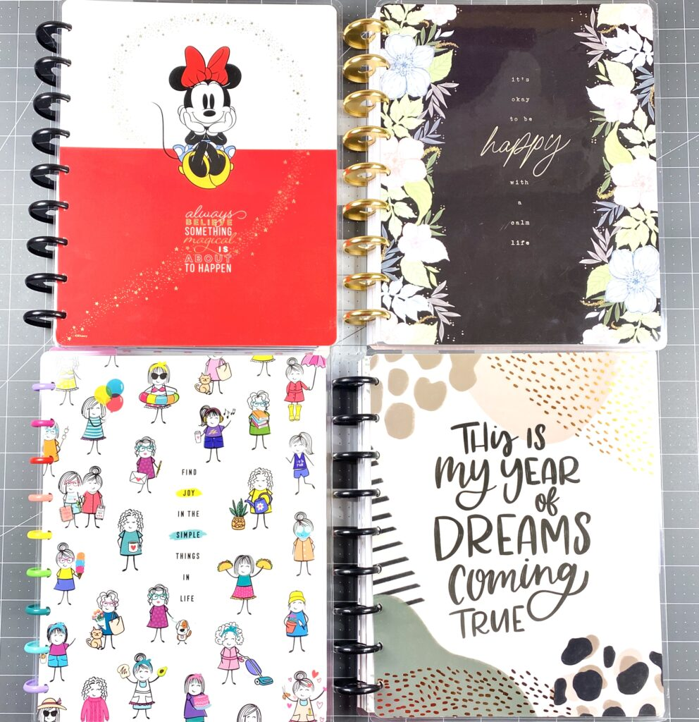 happy planner covers for a transformer planner or frankenplanner