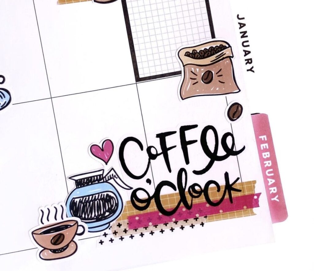 coffee-o'clock-planny_mandy planner stickers