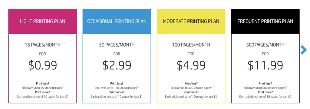 hp-instant-ink- price plans
