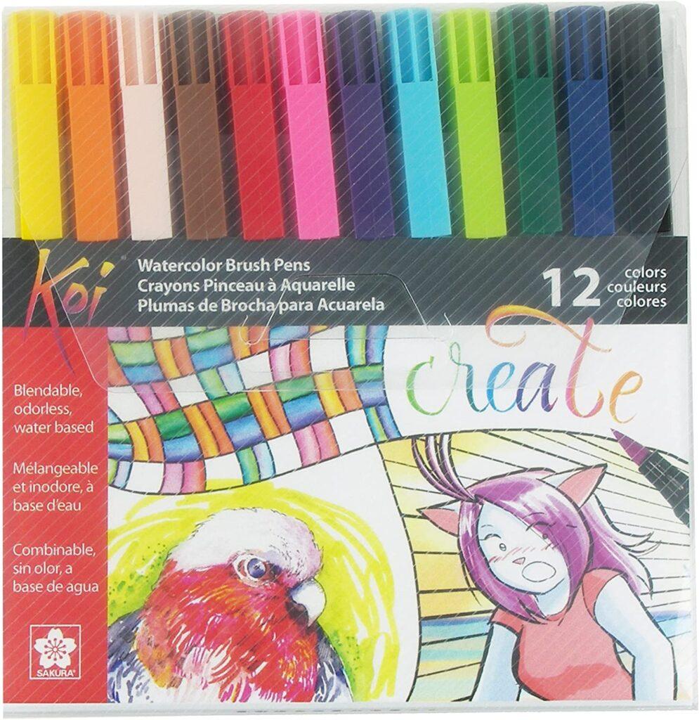 Sakura-12piece-assorted-coloring
