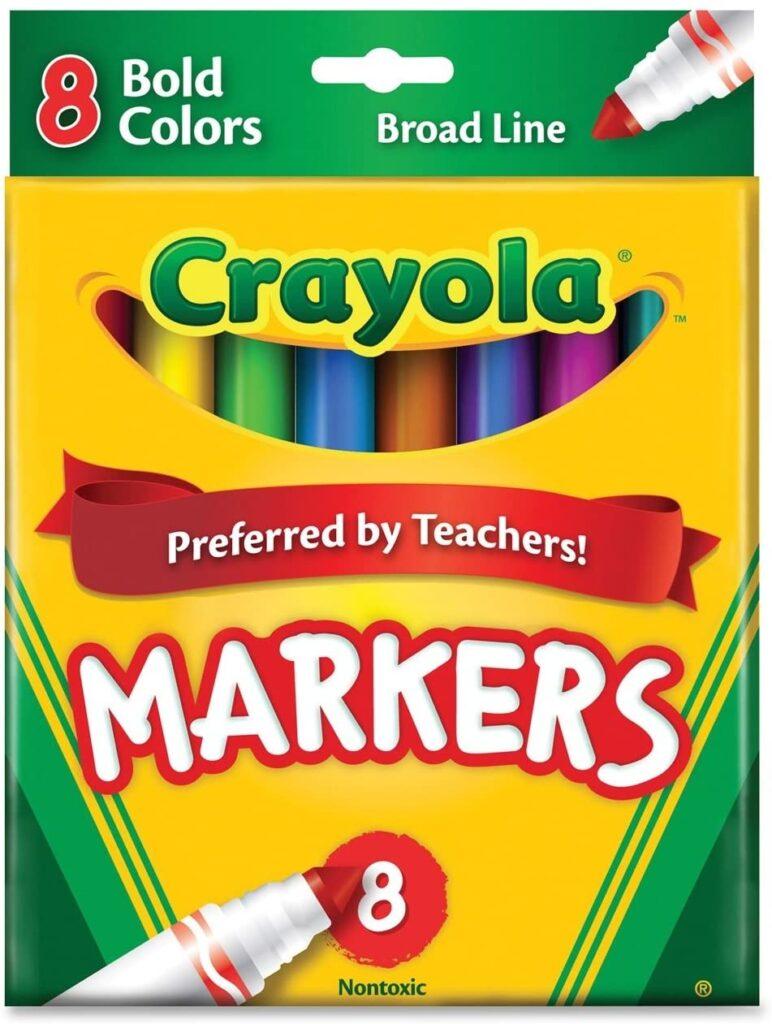 crayola bold markerts set of 8