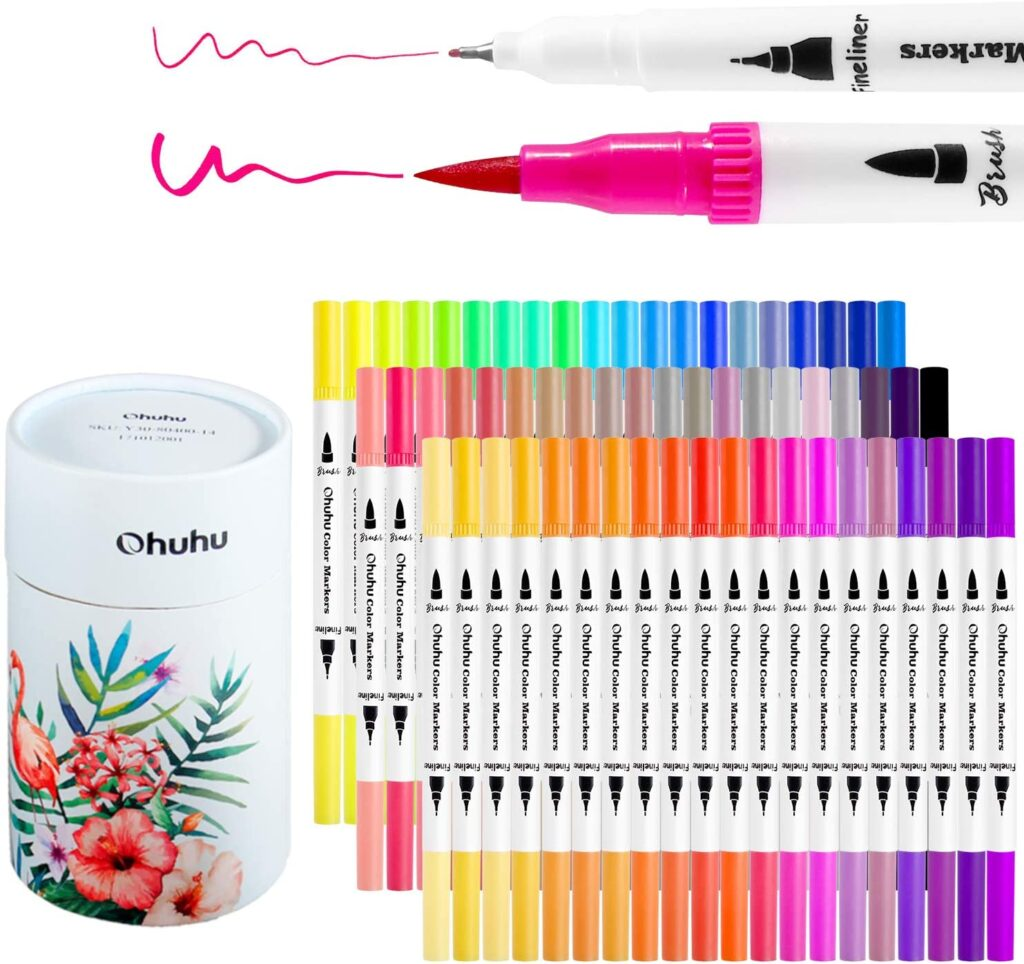 ohuhu-coloring-fineliner-caliligraphy-sketching-pens