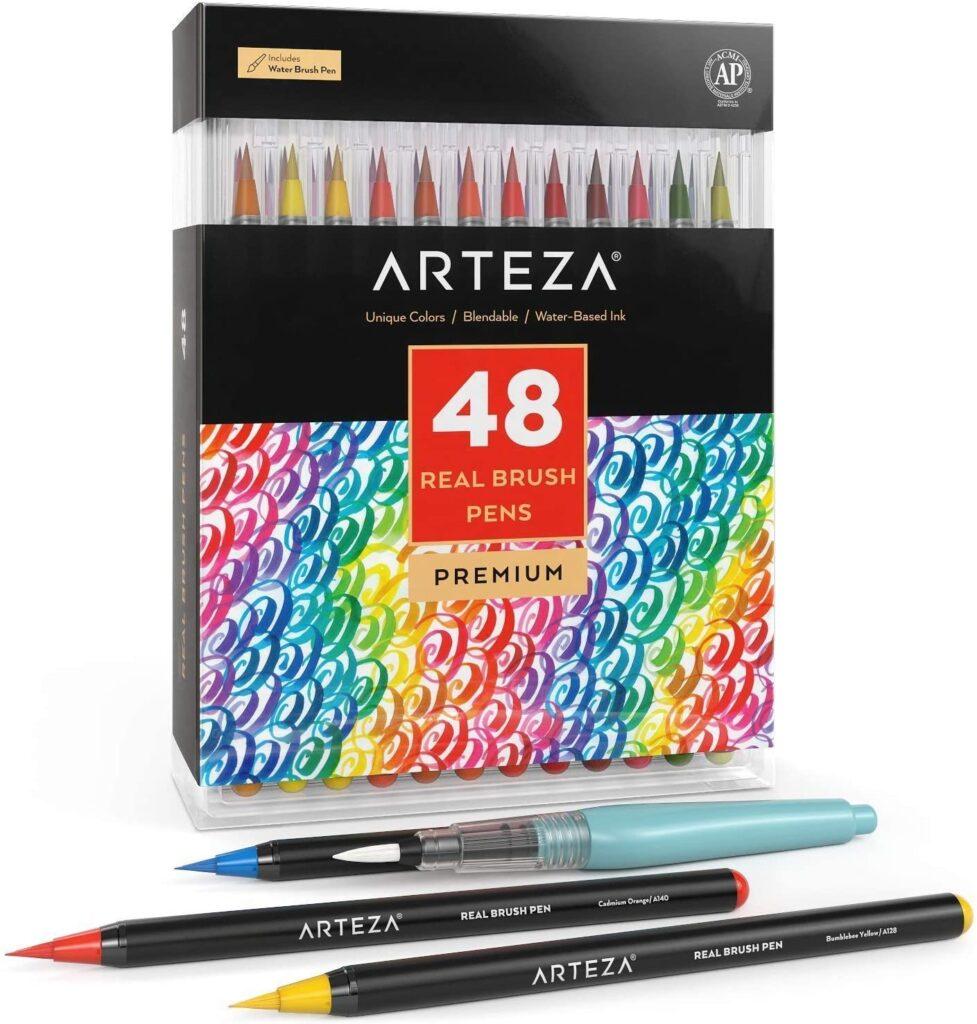 watercolor-painting-flexible-marker-arteza