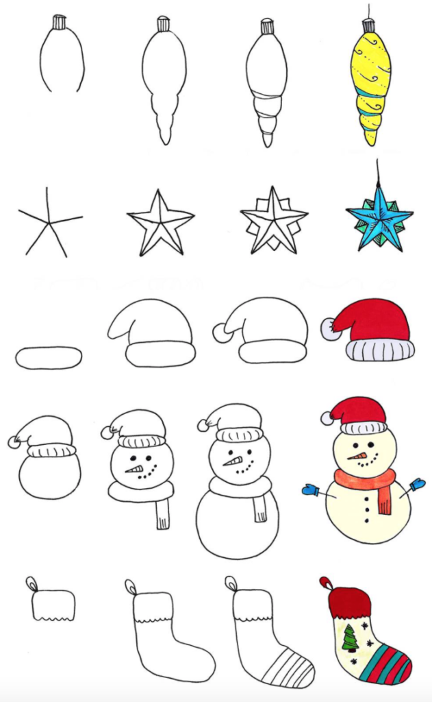 Christmas images doodle tutorial