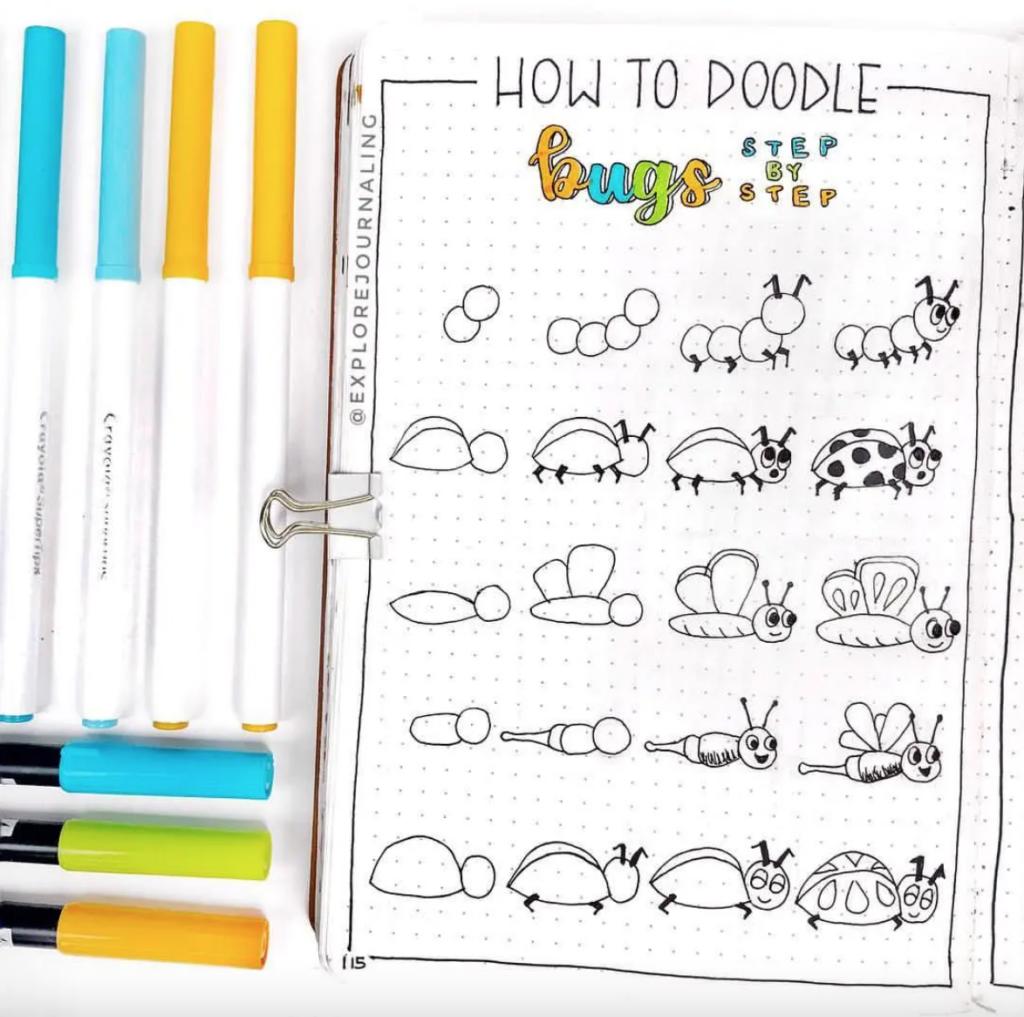 bug planner doodles