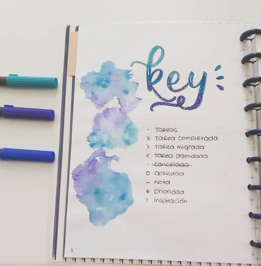 watercolor key page design