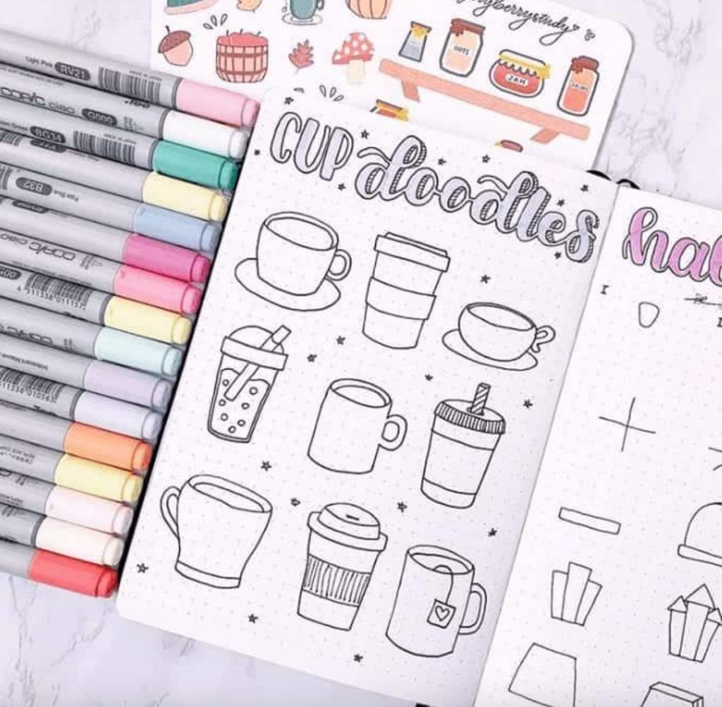 hot beverage doodles