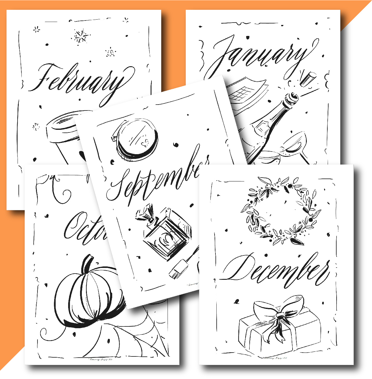 monthly planner covers or dividers