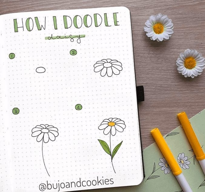 daisy doodle tutorial