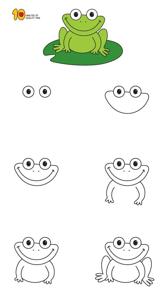 frog doodles