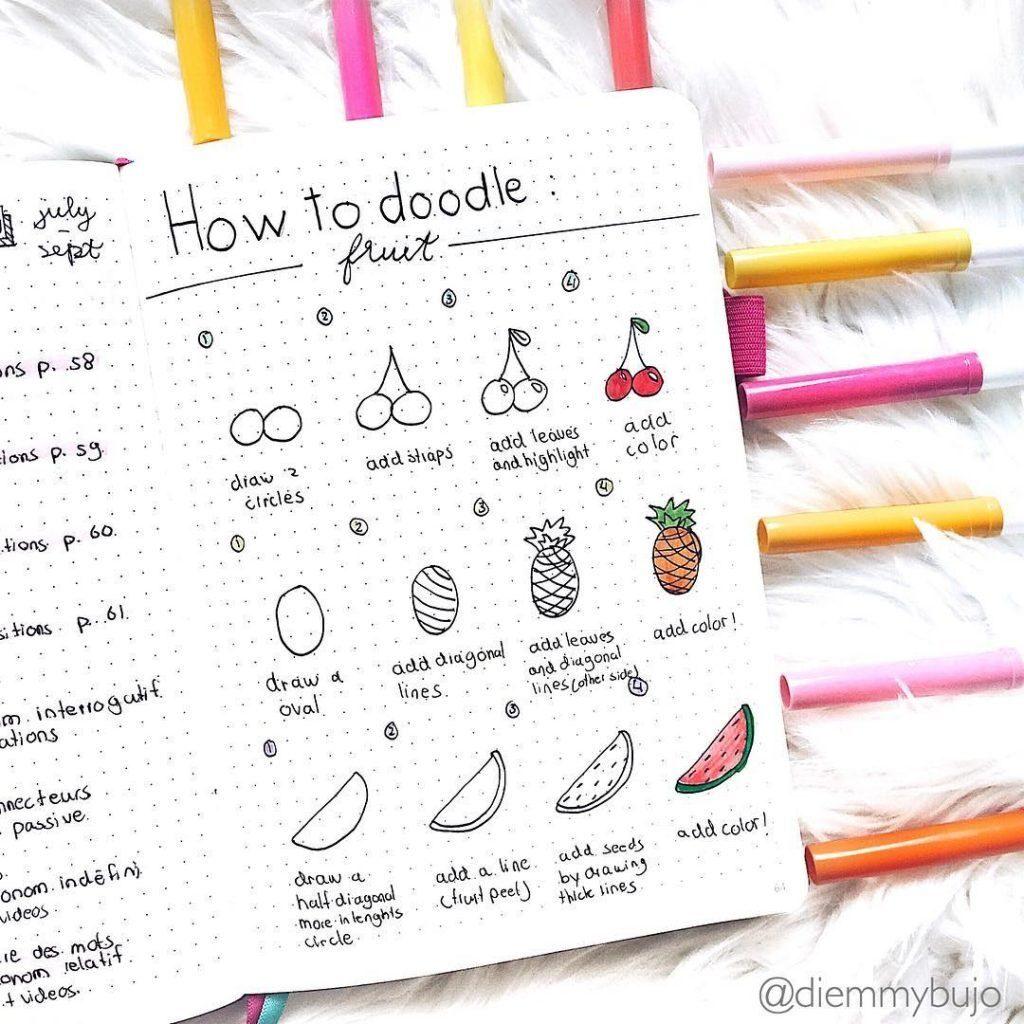simple fruit drawings