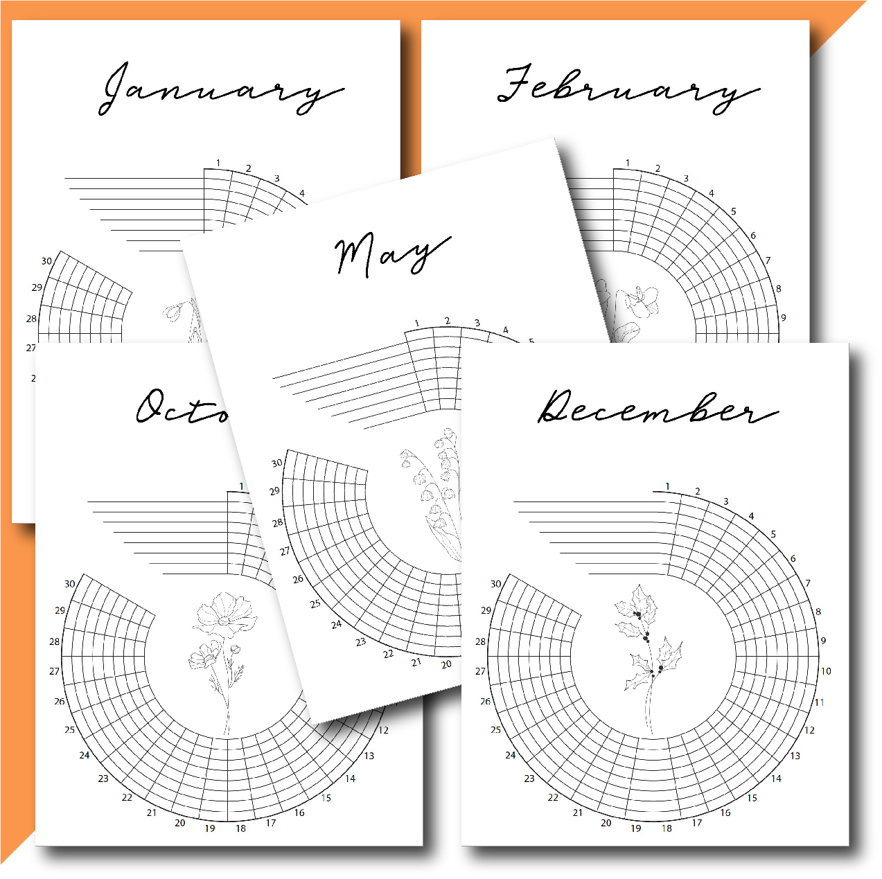 printable habit trackers for each month