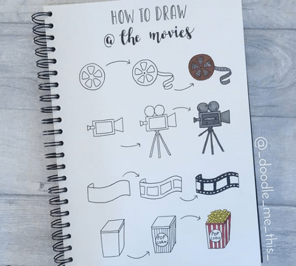 movie planner doodles