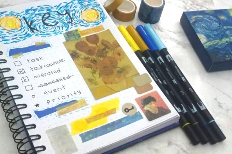 bullet journal key collage design