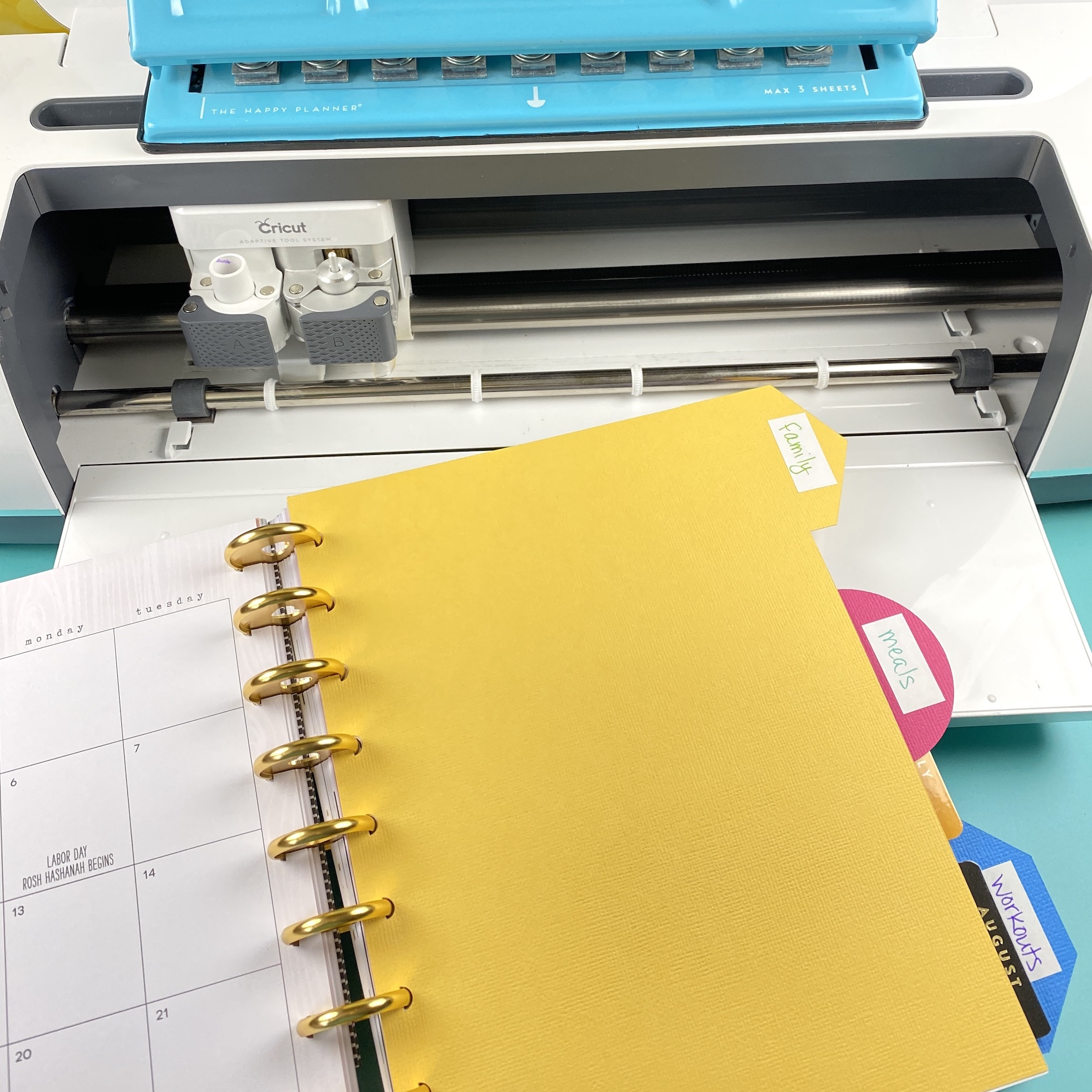 Planner tabs with Cricut
