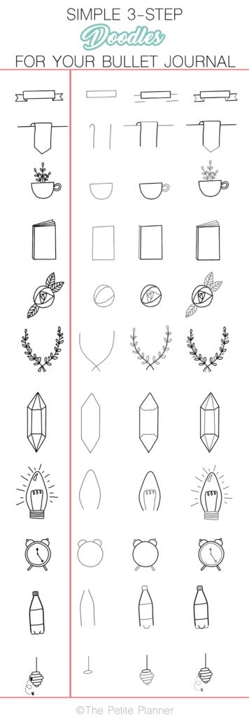 simple 3-step drawings
