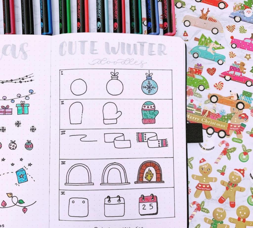 winter planner doodles