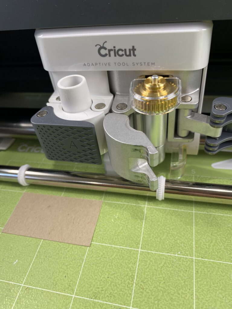 deboss with Cricut Maker and blade