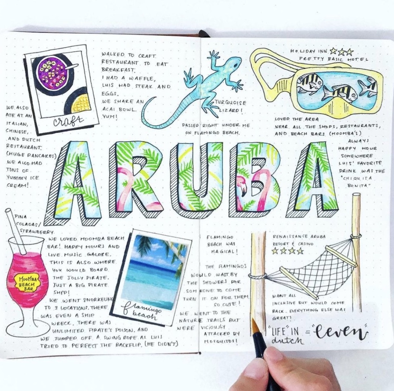 aruba-travel-bullet-journal-curlscity