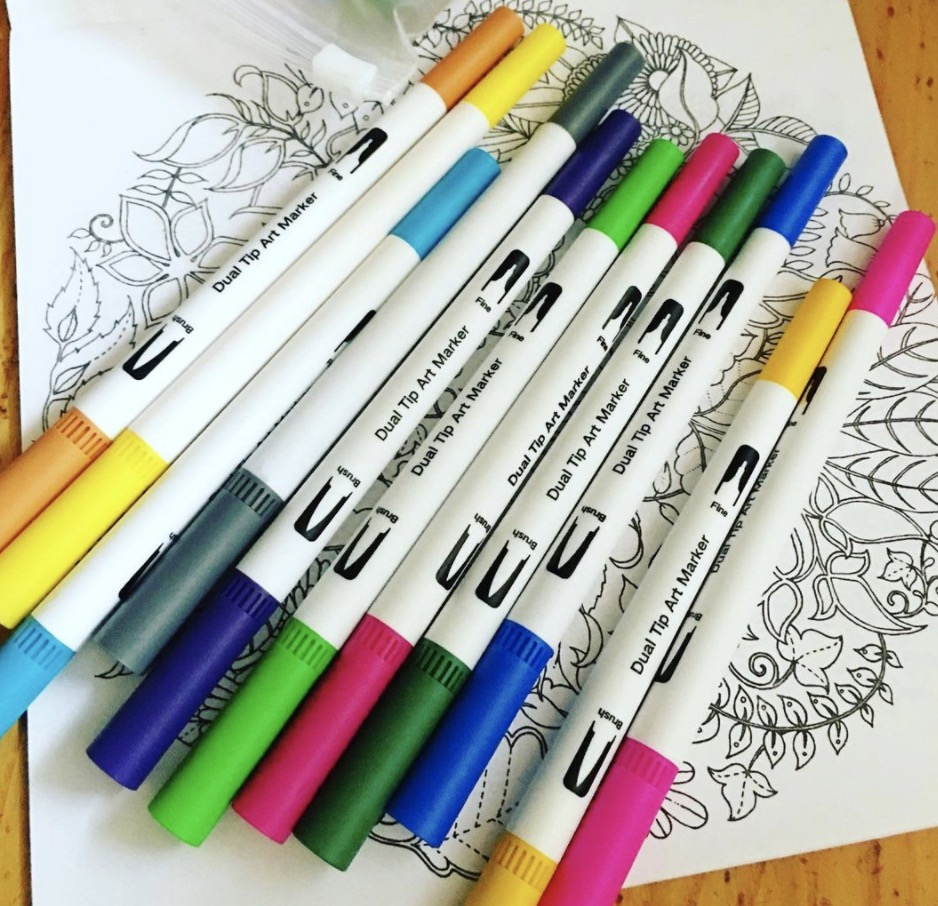 best colouring pens for adult coloring books