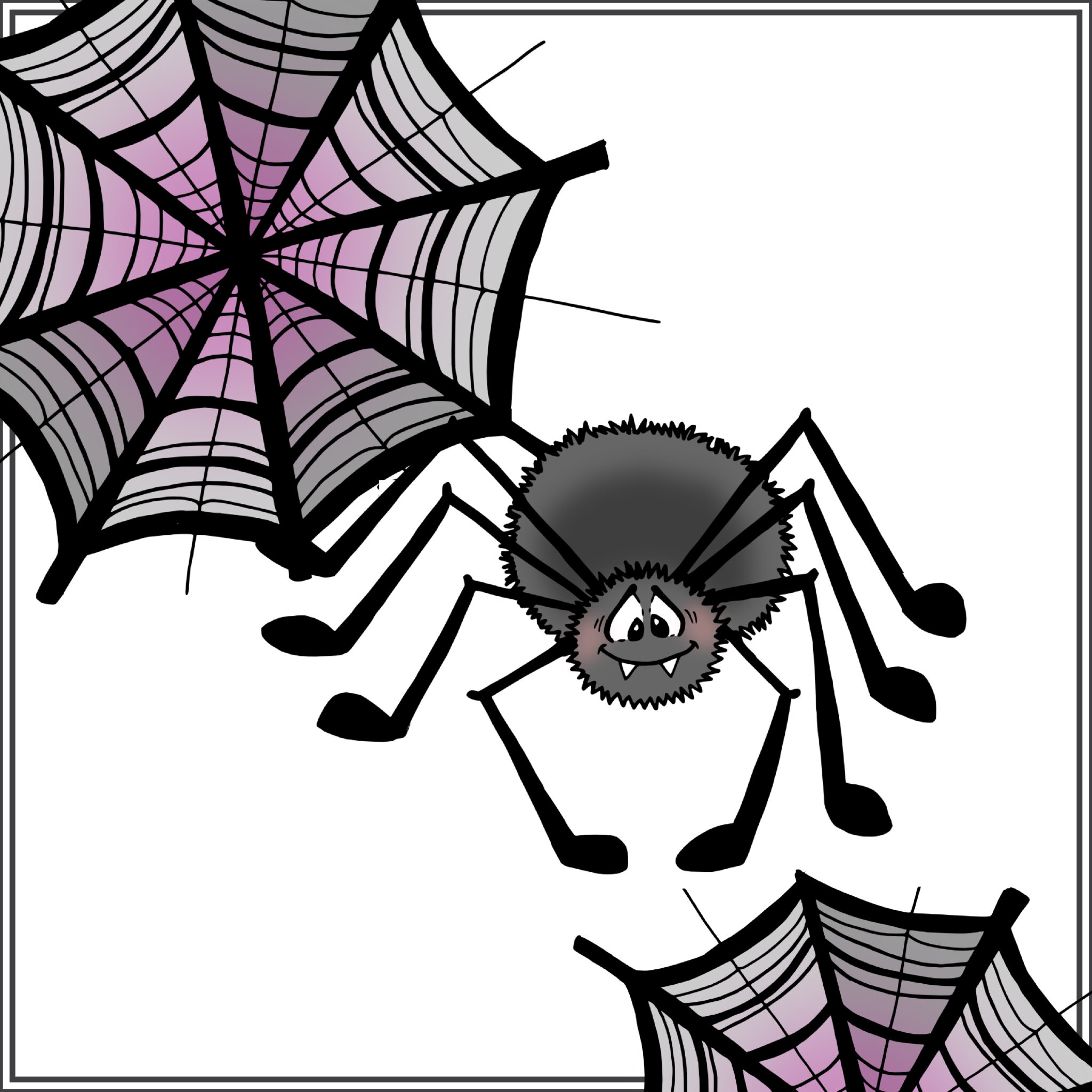 an easy to draw spider tutorial
