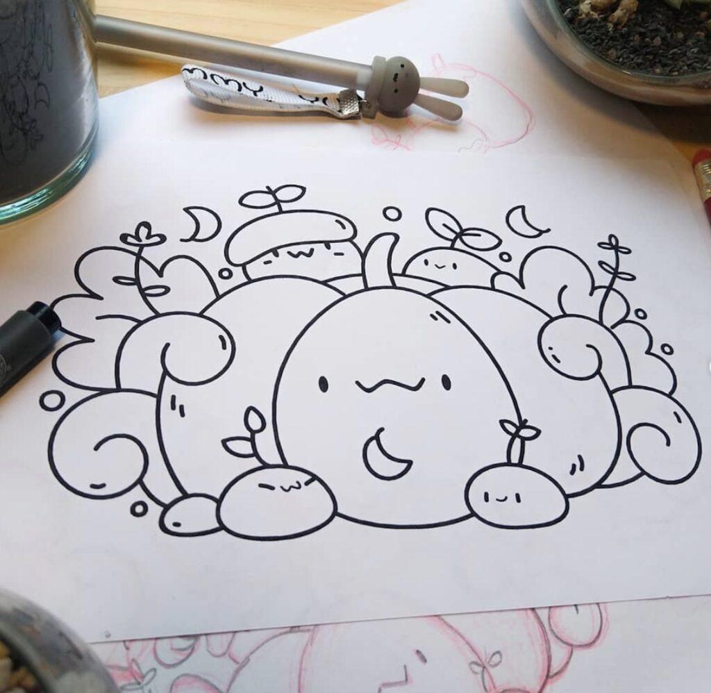 fall-pumpkin-doodle-scribbleboxart