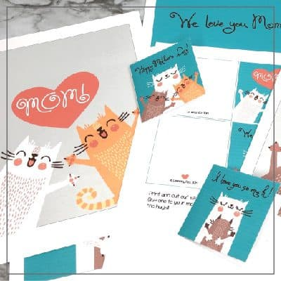 Cat Prints and Cards for Mother's Day