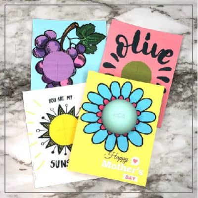 EOS Lip Balm Cards for Mom