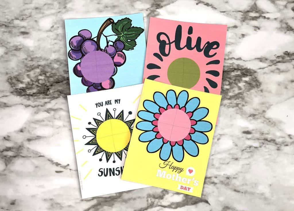 EOS lip gloss cards for gifts and Mother's Day crafts. I love you gift cards.