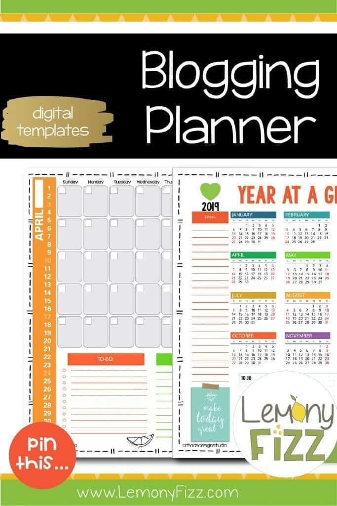 Blogging planner printable.
