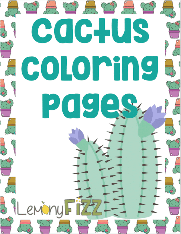 Cactus Coloring Pages Printable Download