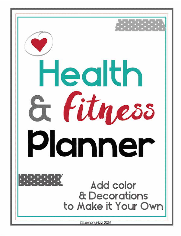 Fitness Tracker Planner Guide Printable Planning Journal