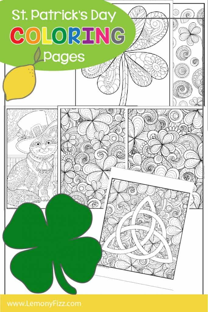 St. Patrick's Day Coloring Pages for Kids and Adults