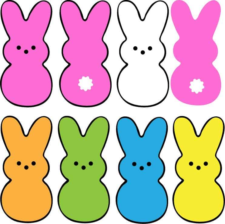 Free Peep Bunny SVG files for Cricut and Silhouette projects.